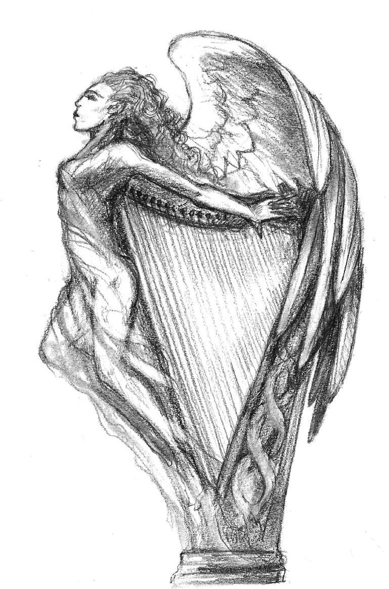 angelharp love harps irish tattoos tattoo designs