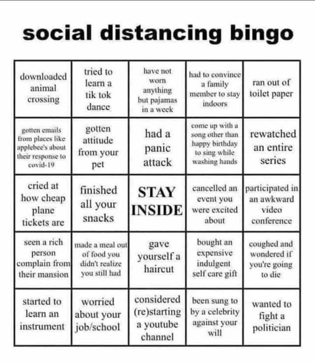 Bingo Template Tik Tok Edition 1 Advantages Of Bingo ...