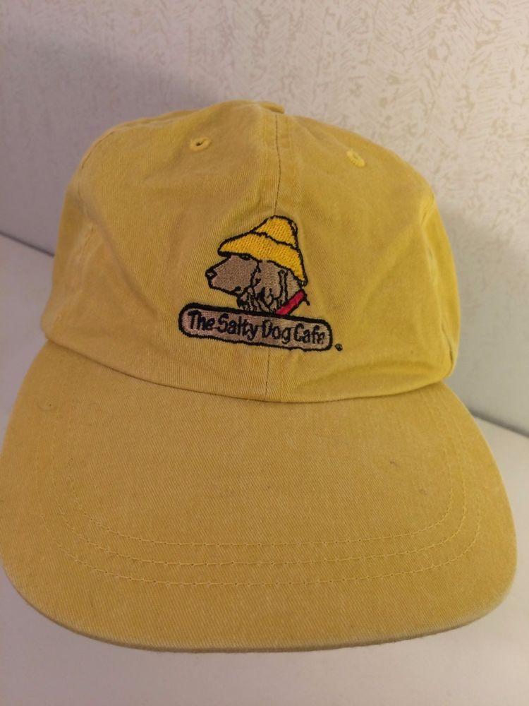 c04ba97dd0d The Salty Dog Cafe Cap Backstrap Adjustable Hat Yellow by Fahrenheit 100%  Cotton  FahrenheitFashionHeadwear  BaseballCap