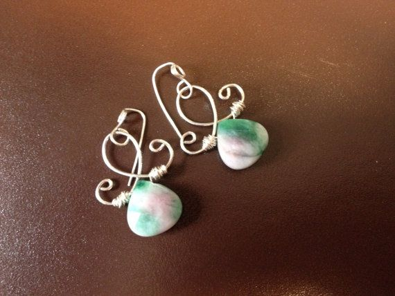 Sterling Silver JADE /& PEARL Pink Candy INFINITY Necklace with Matching Earrings
