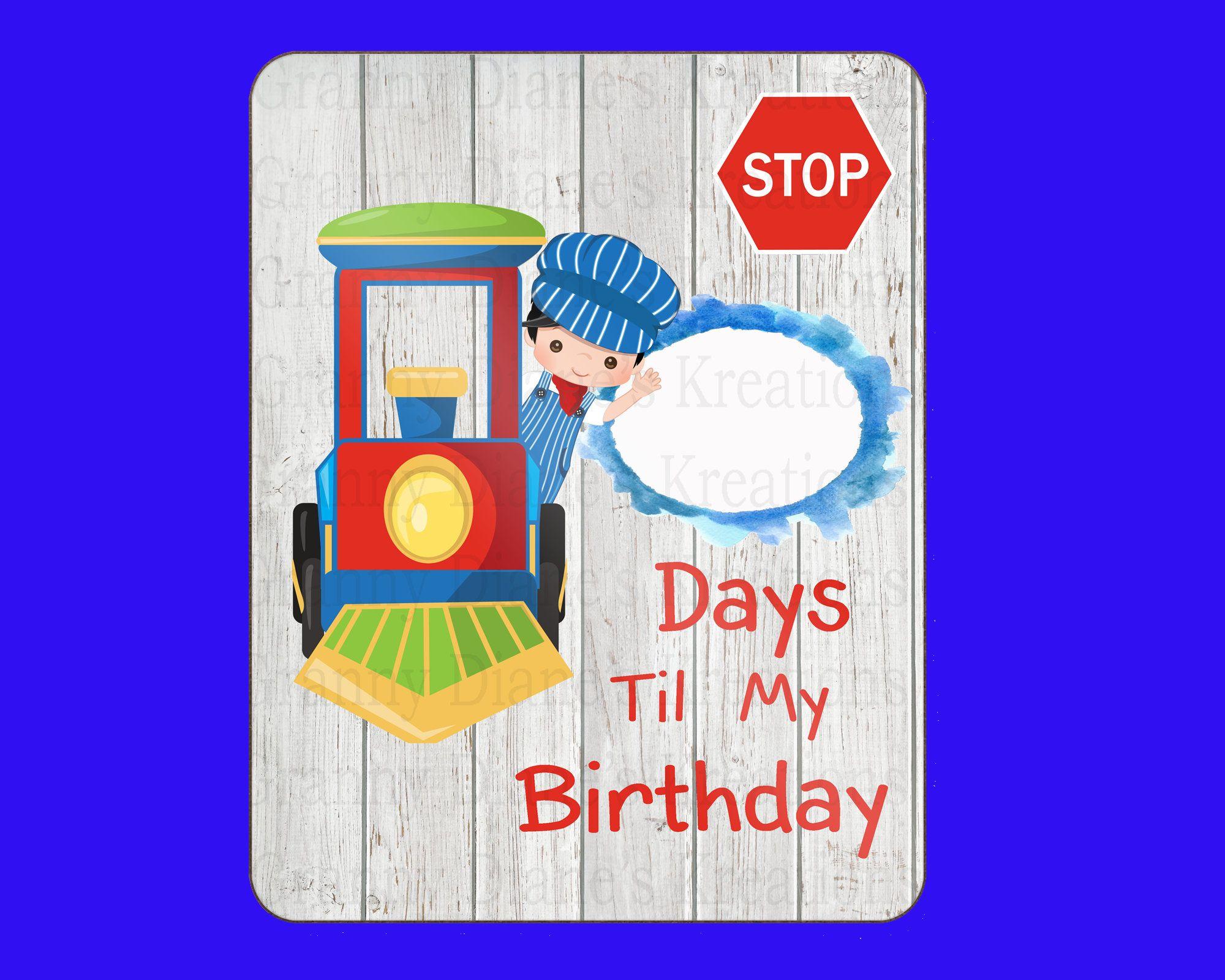 Personalized Birthday Countdown Board, Days until Birthday