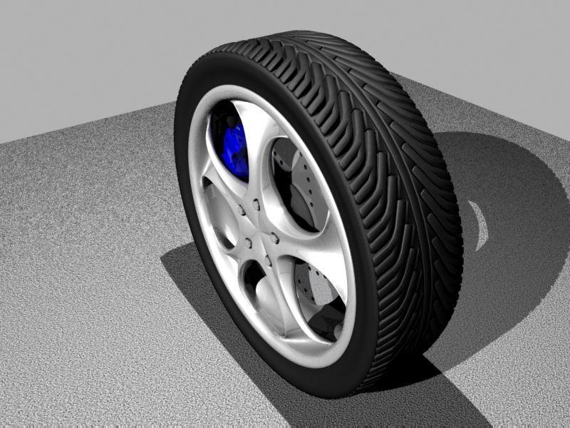 3Dsmax Wheel Brake Disc - 3D Model