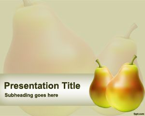 Pear Powerpoint Template Fruitpowerpointtemplate Food  New Free