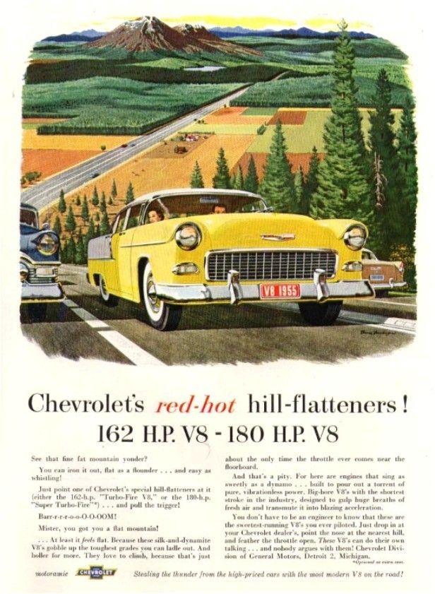 Pin by Scott Konshak on Classic auto ads 1955 chevrolet