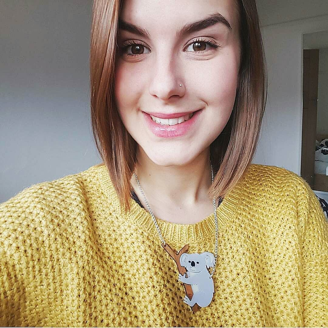 #REGRAM @tillyminttt in her designosaur Koala necklace! (I love that jumper btw) What jewels are you wearing today? by designosauryeah