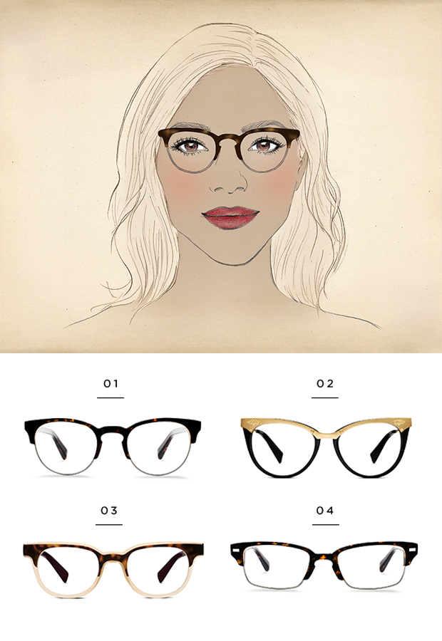 42c43b0b81 The best glasses for a diamond face shape
