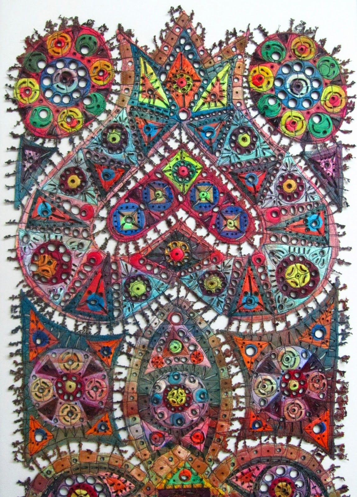 large framed textile art