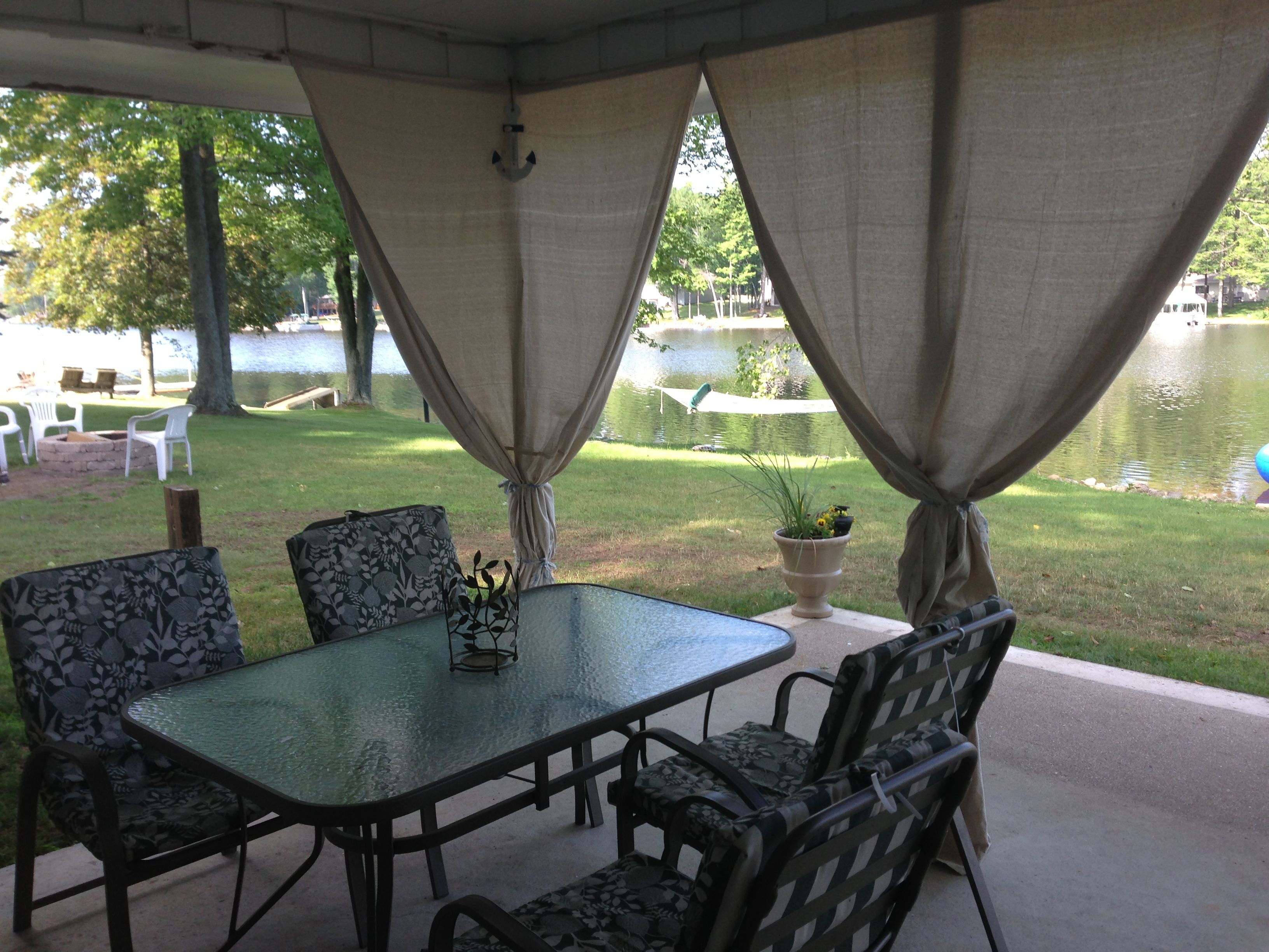 outdoor curtains made from 6x9 drop cloths on my patio used