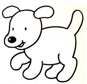 Coloriage Animaux Simple.Coloriage Chien Facile Recherche Google Gabarit Chien