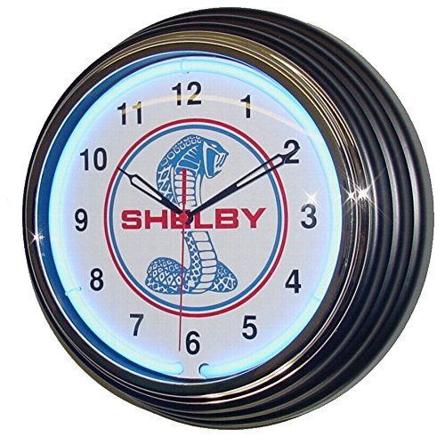 12 Retro Style Ford Shelby Cobra Blue Neon Wall Clock Ne https