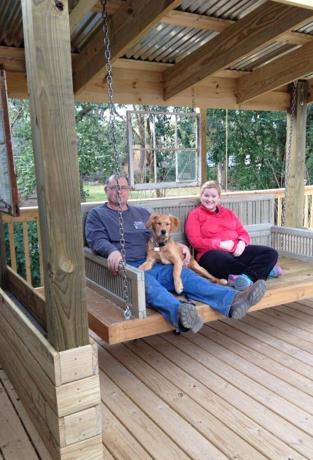 DIY Outdoor Swing Bed Outdoor porch bed, Yard swing