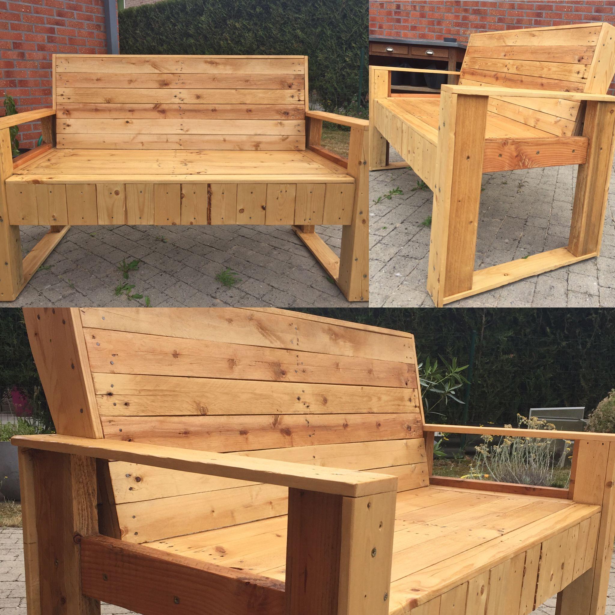 Banc en palette - Inspiration - geometric - DIY - Wood - Bois brut ...
