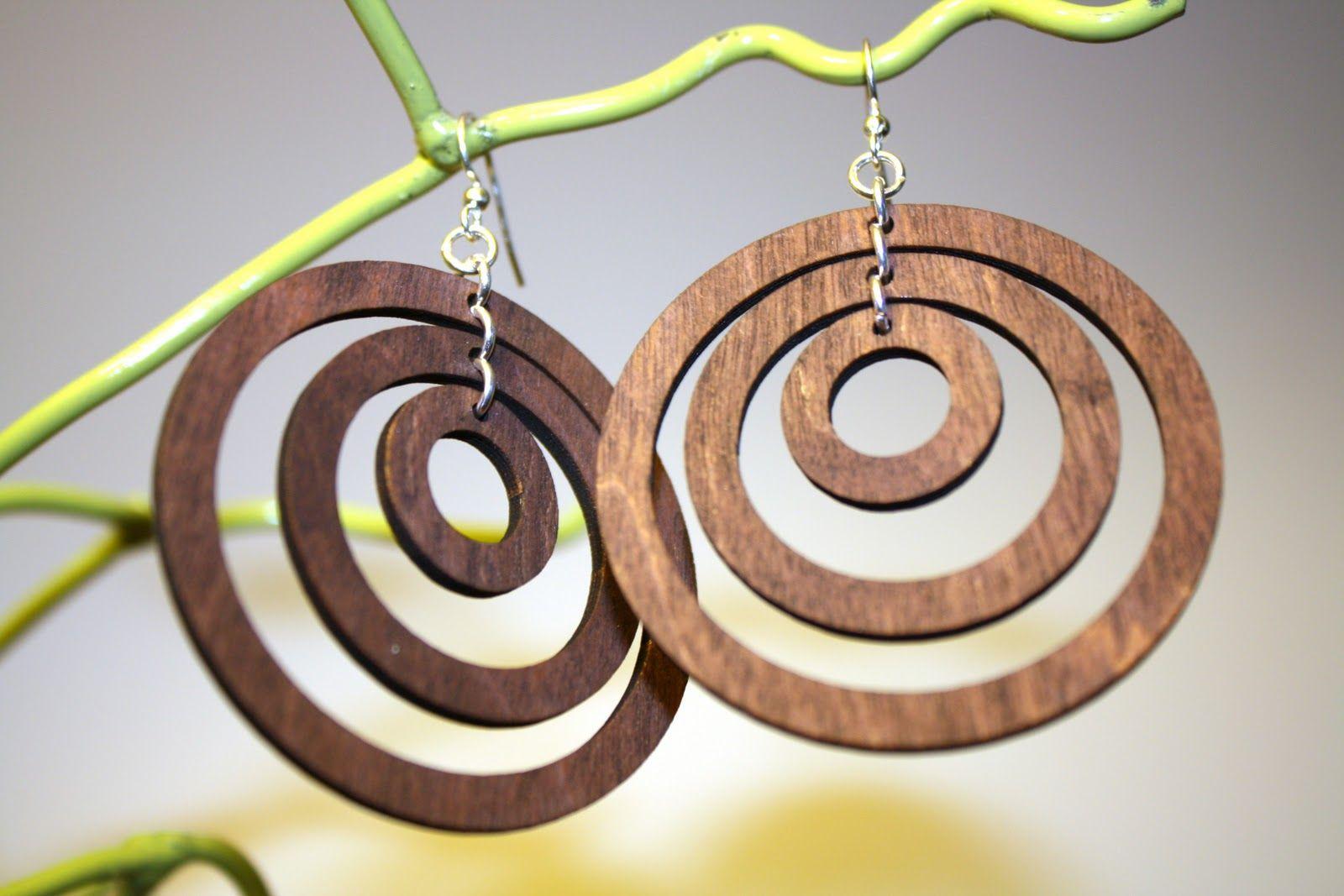 ringed laser cut earrings