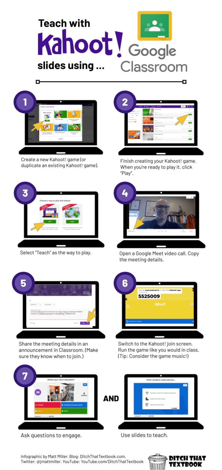 Using Kahoot! with Google Classroom Ditch That Textbook