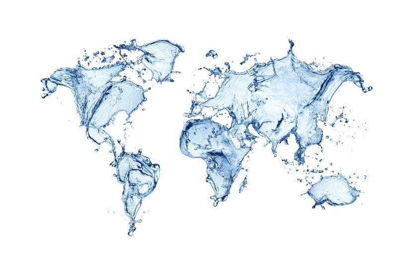 Water world wall murals and walls water world world map wallpaperwallpaper gumiabroncs Gallery