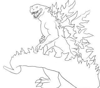 Ausmalbilder Godzilla Zum Ausmalen Drawings Coloring Pages Godzilla