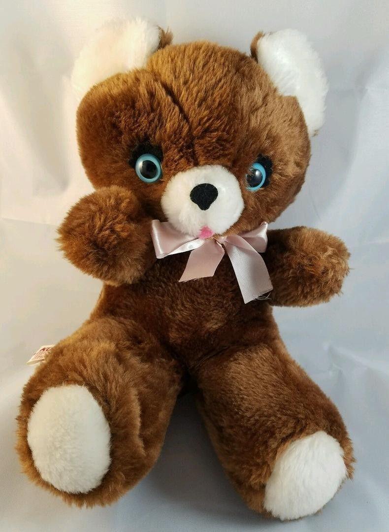 Vintage Kuddles Plush Teddy Bear Brown Bear With Blue Eyes Kuddle Toy Inc Stuffed Animal Japan A Teddy Bear Plush Teddy Bear Stuffed Animal Bear Stuffed Animal [ 1080 x 790 Pixel ]