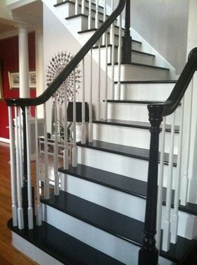 Painted Stairs Houzz Foyer Decorating Home
