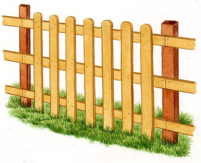 Installer Une Cloture En Bois Pratique Fr Barriere Bois Jardin Cloture Bois Cloture Jardin Palettes