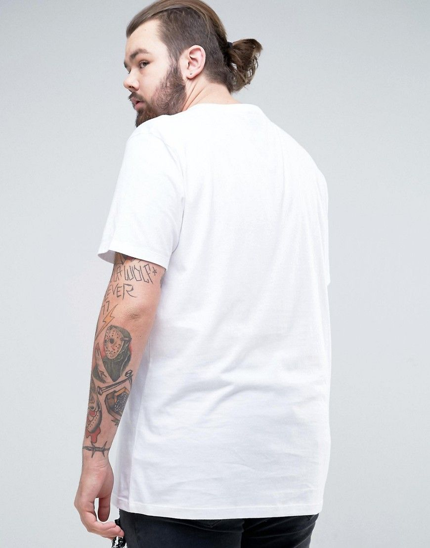 f73571a00ceb ASOS PLUS Longline T-Shirt With Crew Neck - White Asos Plus, Plus Size