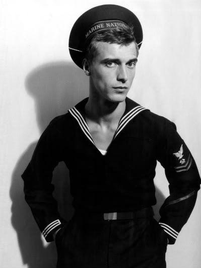 WWII sailor in uniform. Your great Grandpa George would have worn this in the service.