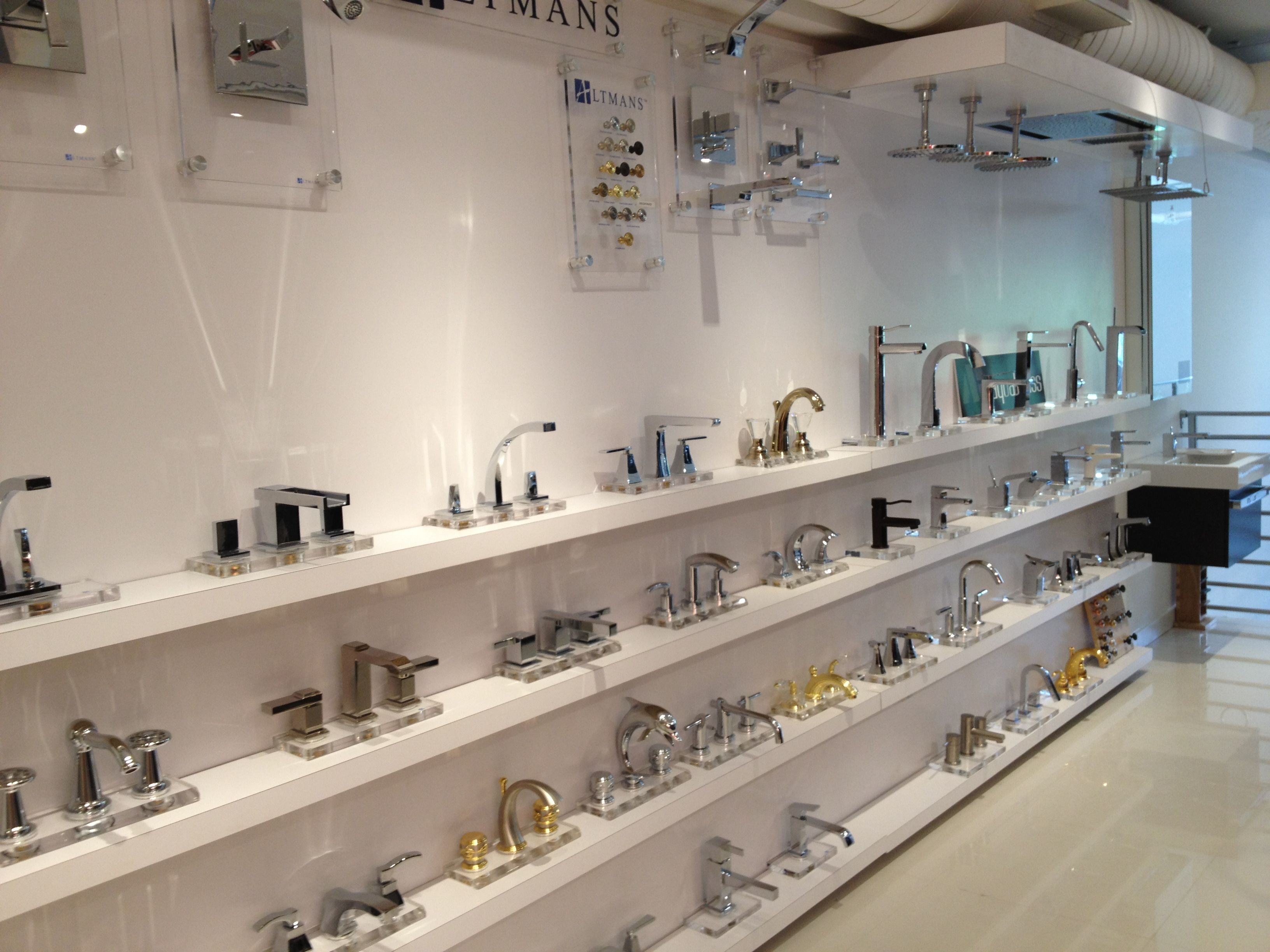 Bathroom Fixtures Miami aquabrass & altmans display at our new showroom in the miami