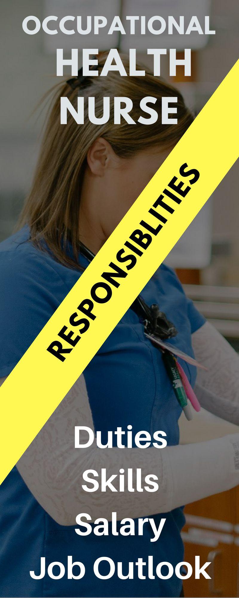 Occupational health nurse salary job description and