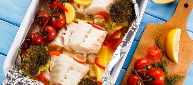 recept vis in de oven met groenten
