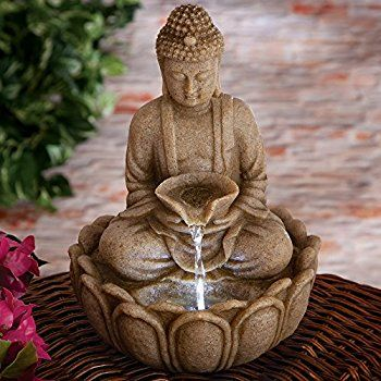 Bits and Pieces - Indoor Buddha Fountain - Zen Tabletop Water ...