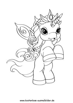 Ausmalbilder Filly Einhorn Magic Pic Coloring Pages Kids