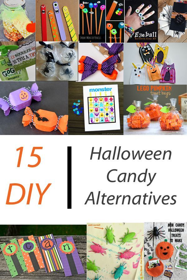 15 diy halloween candy alternatives ideas for non candy halloween treat bag items for - Pinterest Halloween Treat Bags