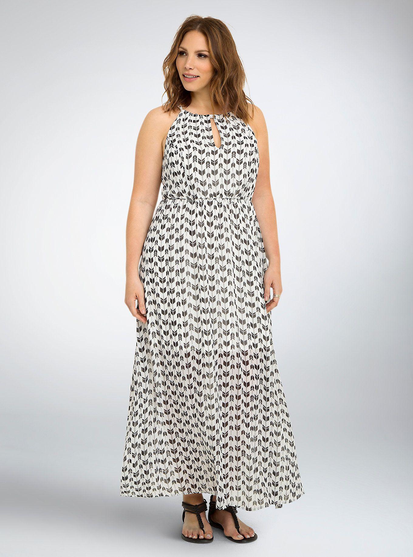 Lace dress torrid  Arrow Print Halter Maxi Dress  Halter maxi dresses Torrid and Maxi