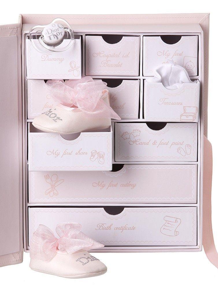 baby pink 10 drawers memory box childrensalon. Black Bedroom Furniture Sets. Home Design Ideas