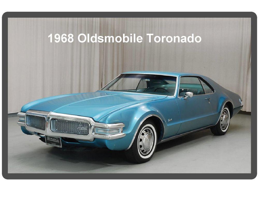 1968 Oldsmobile Tornado Auto Refrigerator Tool Box Magnet Refrigerators Oldsmobile Toronado Oldsmobile Classic Cars