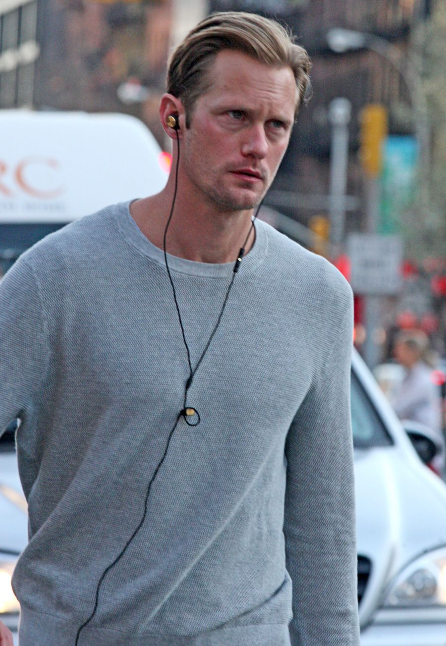 Alexander Skarsgard brings his hotness to Manhattan.