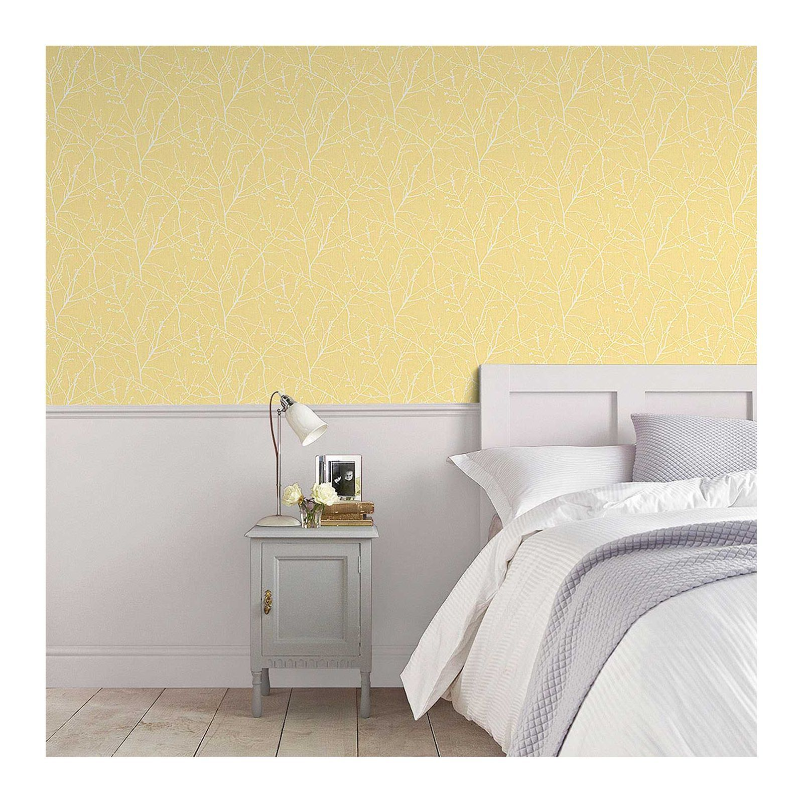 Superfresco Easy Innocence Paste the Wall Yellow Wallpaper