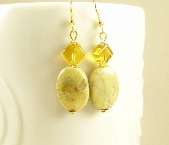 Genuine Light Blue 1.7Ctw Topaz 10K Yellow Gold Gemstone ... |Light Yellow Gemstone Earrings