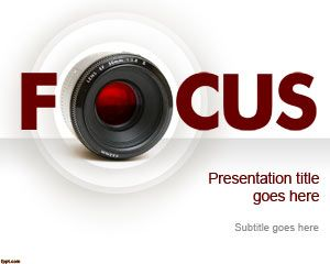 Free focus powerpoint template with nice camera lens and focus make a presentation on how to become a photographer and offer basic photography tips as well as present your portfolio with free focus powerpoint template toneelgroepblik Gallery