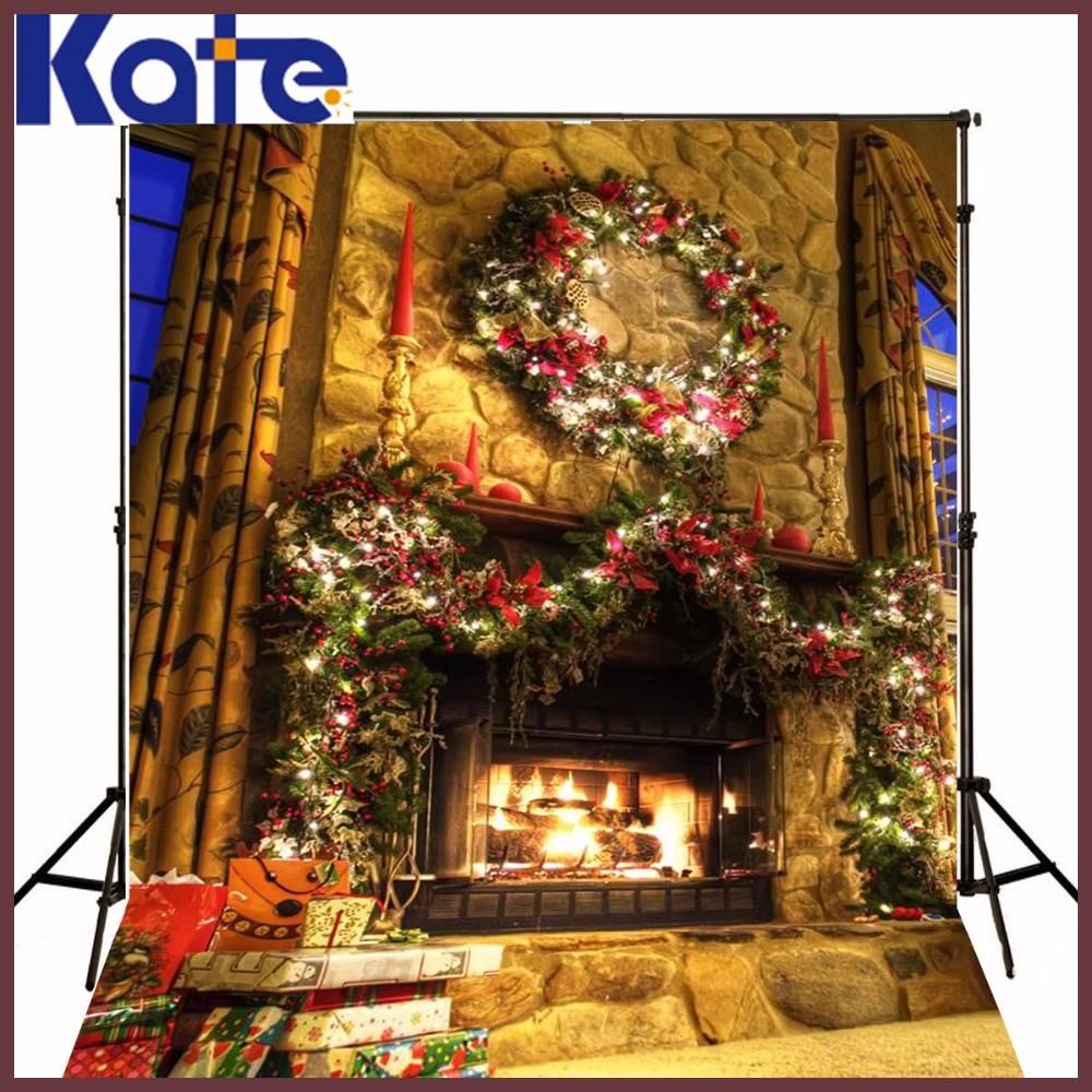 christmas photo background Lights the fire in the New Year 5x7ft(1.5x2.2m) fondos estudio fotografico ZJ