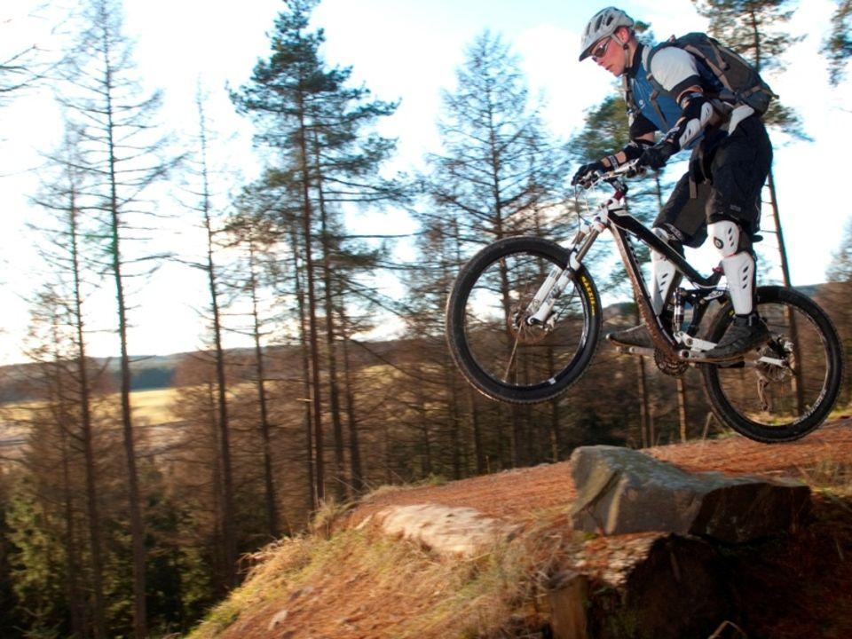 Bunny Hopping Mountain Bike