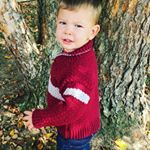 My little man in a sweater I designed He did great for our photo shoot crochetersofinstagram