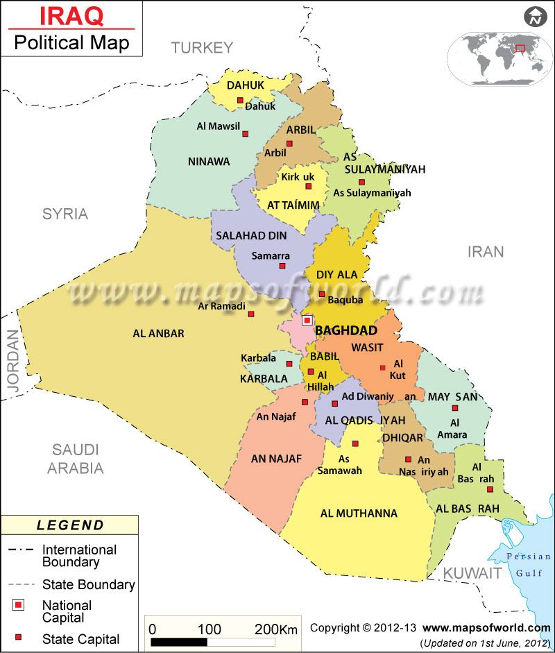 Political Map of Iraq | Maps | Pinterest | Iraq map, Map and