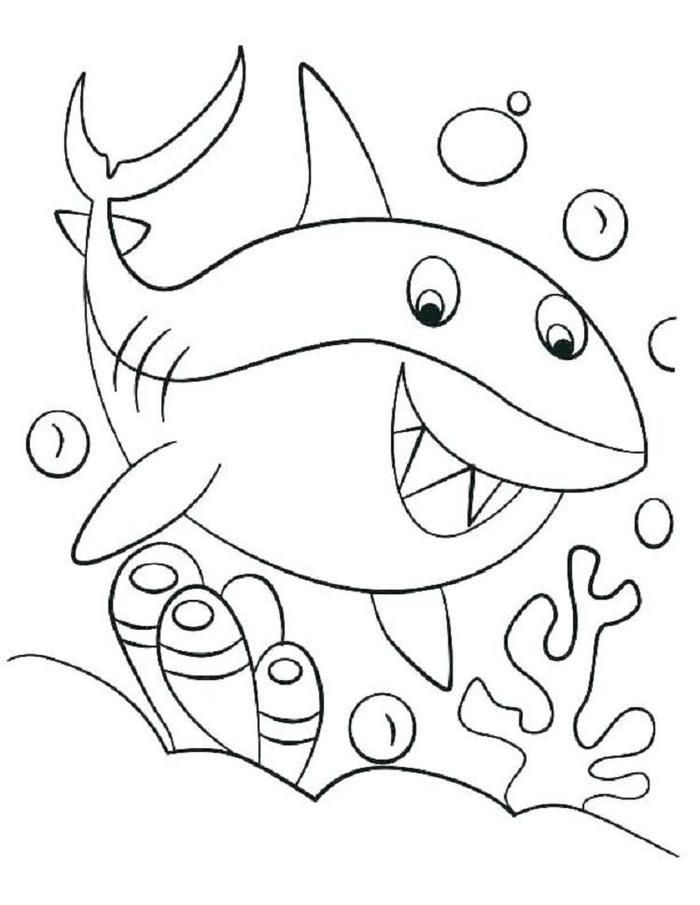 Shark Coloring Pages For Preschooler Shark Coloring Pages Baby Coloring Pages Coloring Pages For Kids