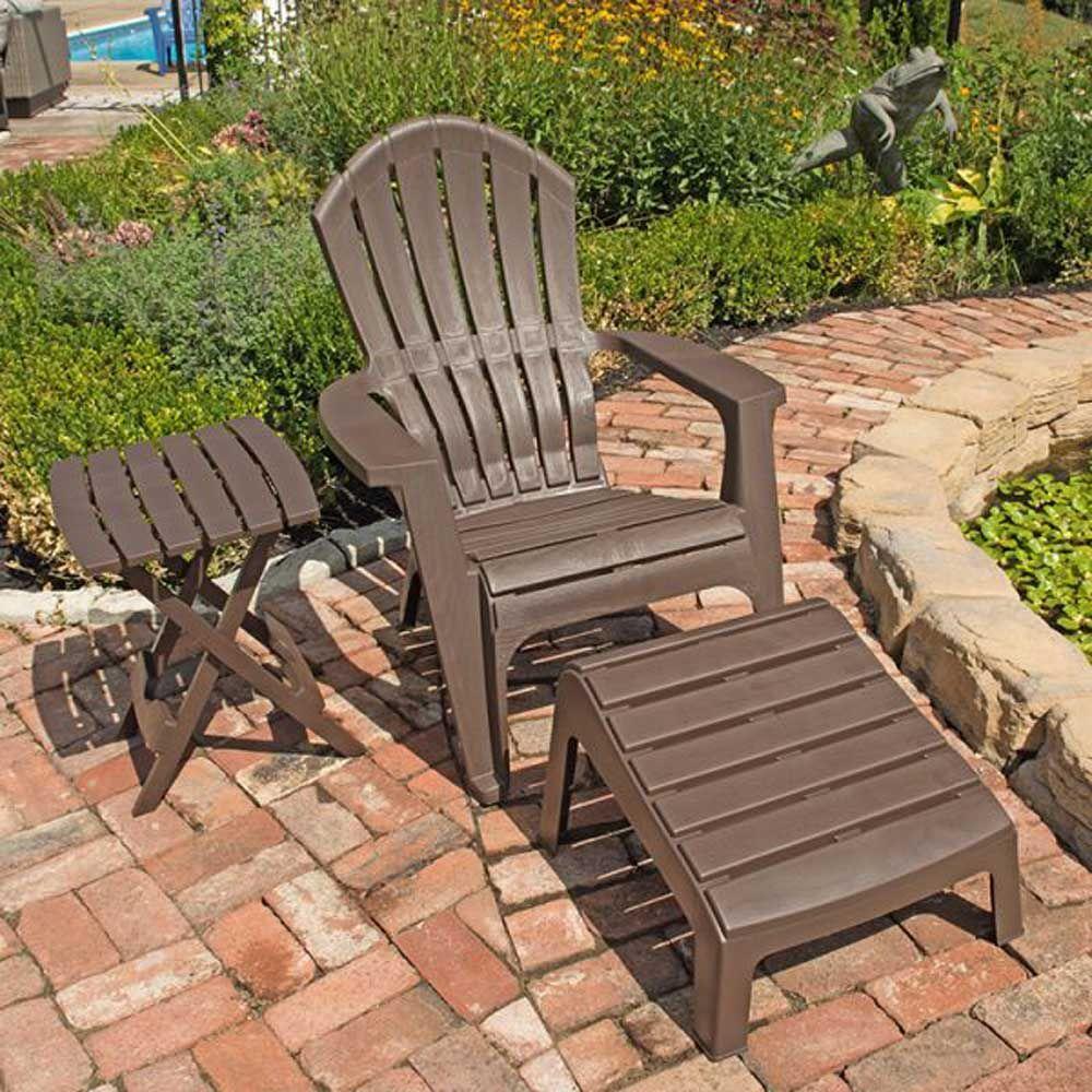 Outdoor Patio Furniture Resin Stacking Adirondack