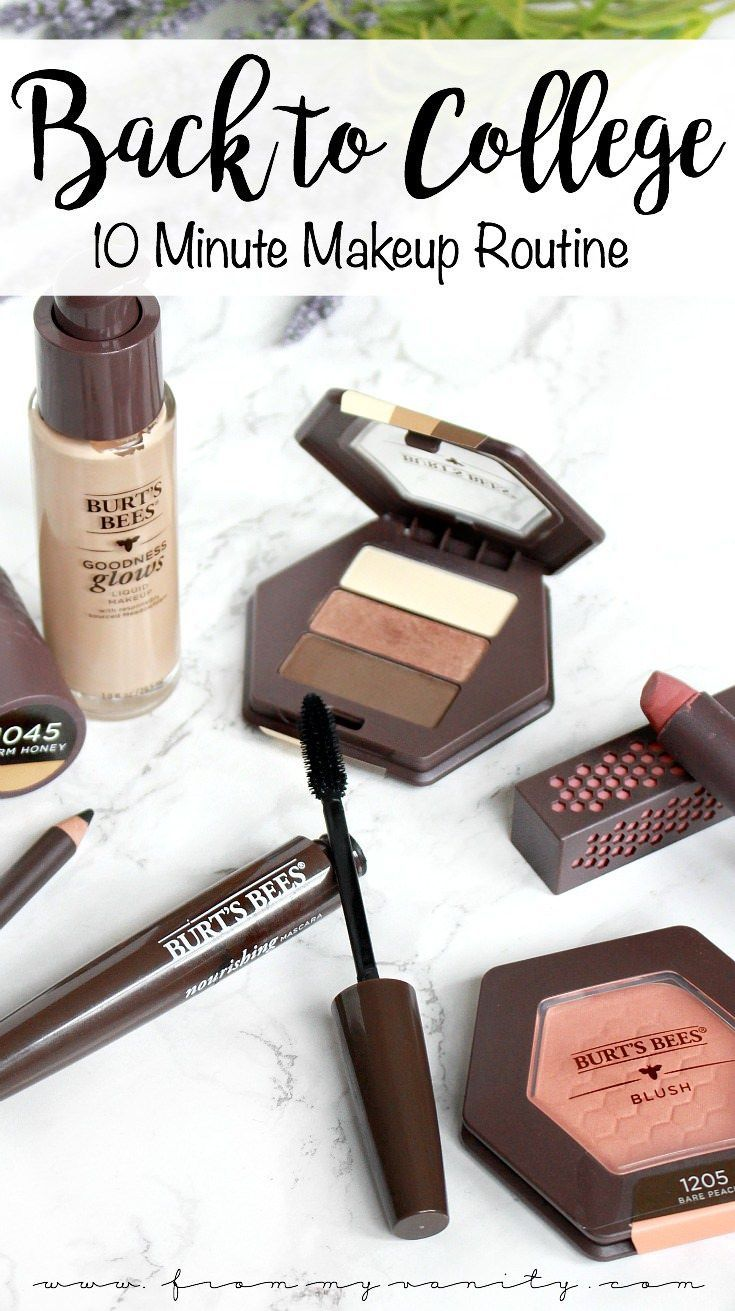 Back to College Makeup Routine with Burt's Bees Beauty