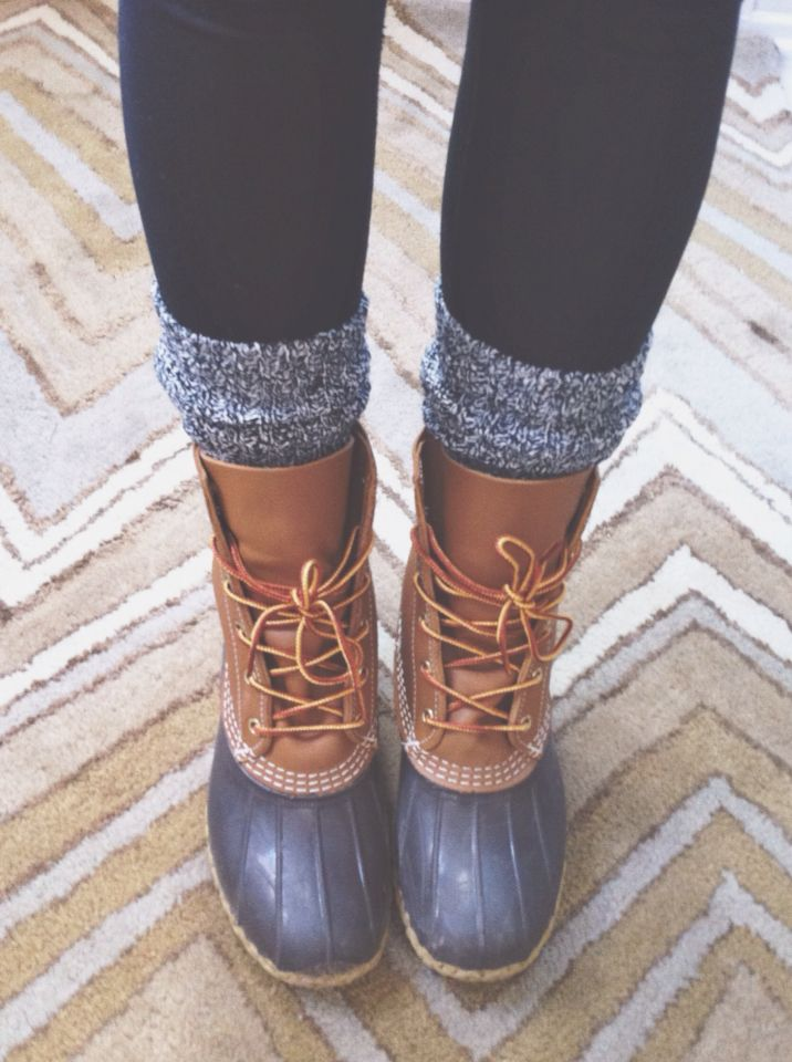 Bean Boots Amp J Crew Camp Socks Duck Boots Outfit