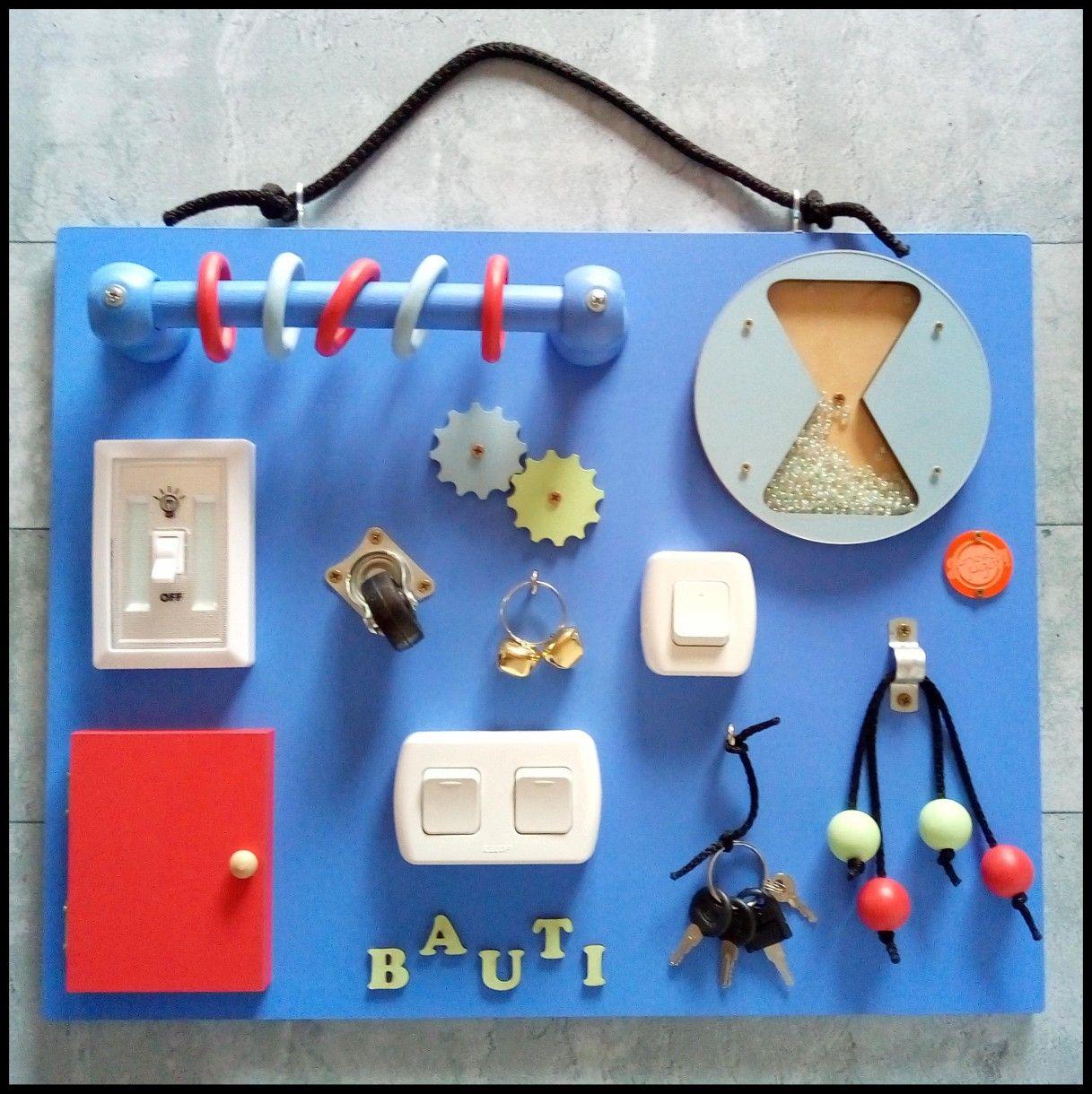 Tablero sensorial personalizado | Tablero de actividades para niño, Tablero  de estimulación sensorial, Tablero para niños