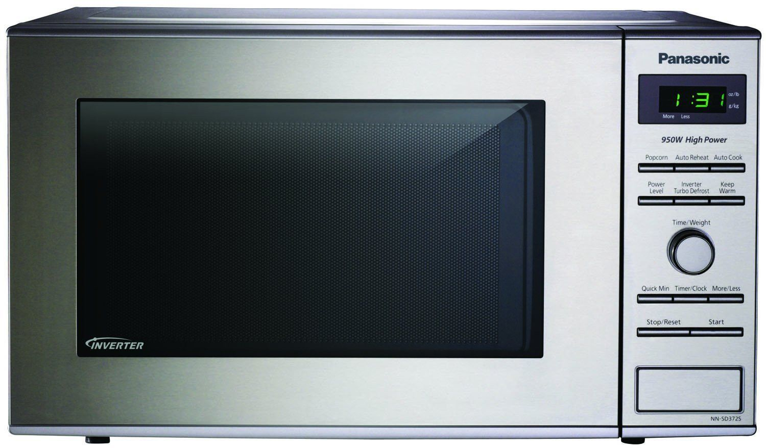Compact Countertop Microwave With Inverter Technology Stainless Model
