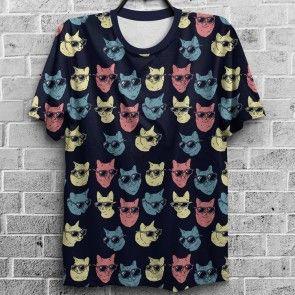 Camiseta  Gatos de Oculos