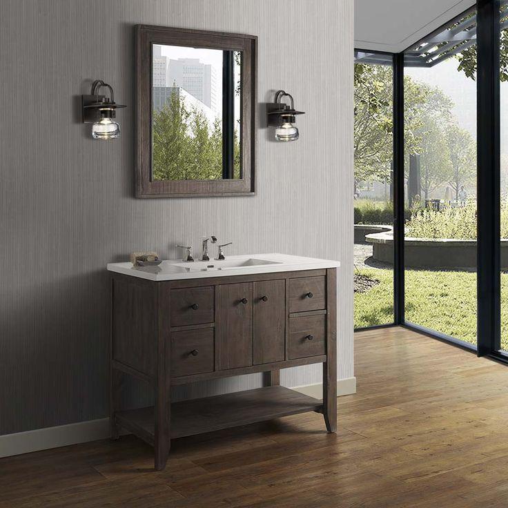 Fairmont Designs River View 42 Open Shelf Vanity For